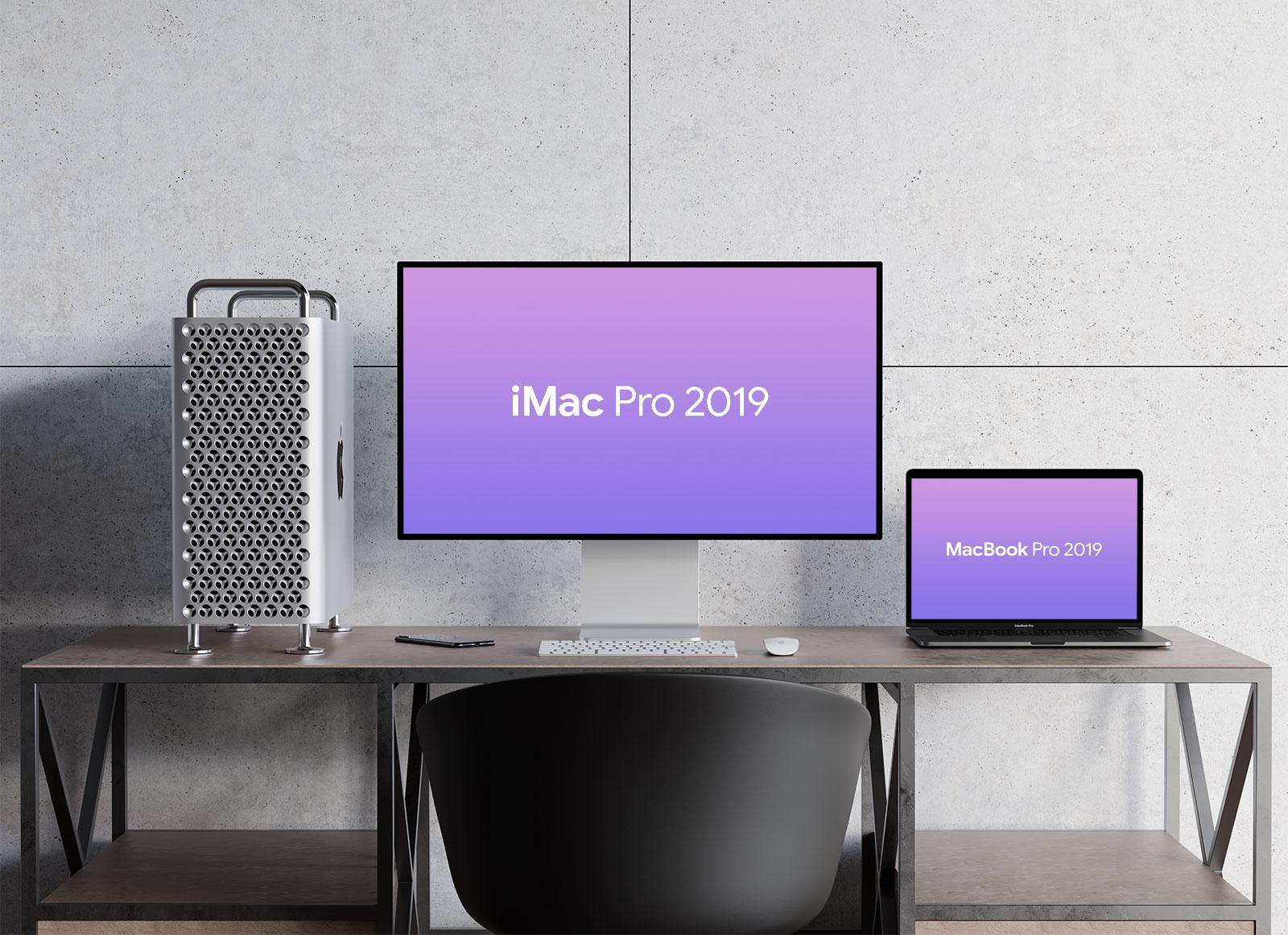 2019 Mac Pro Free PSD Mockup