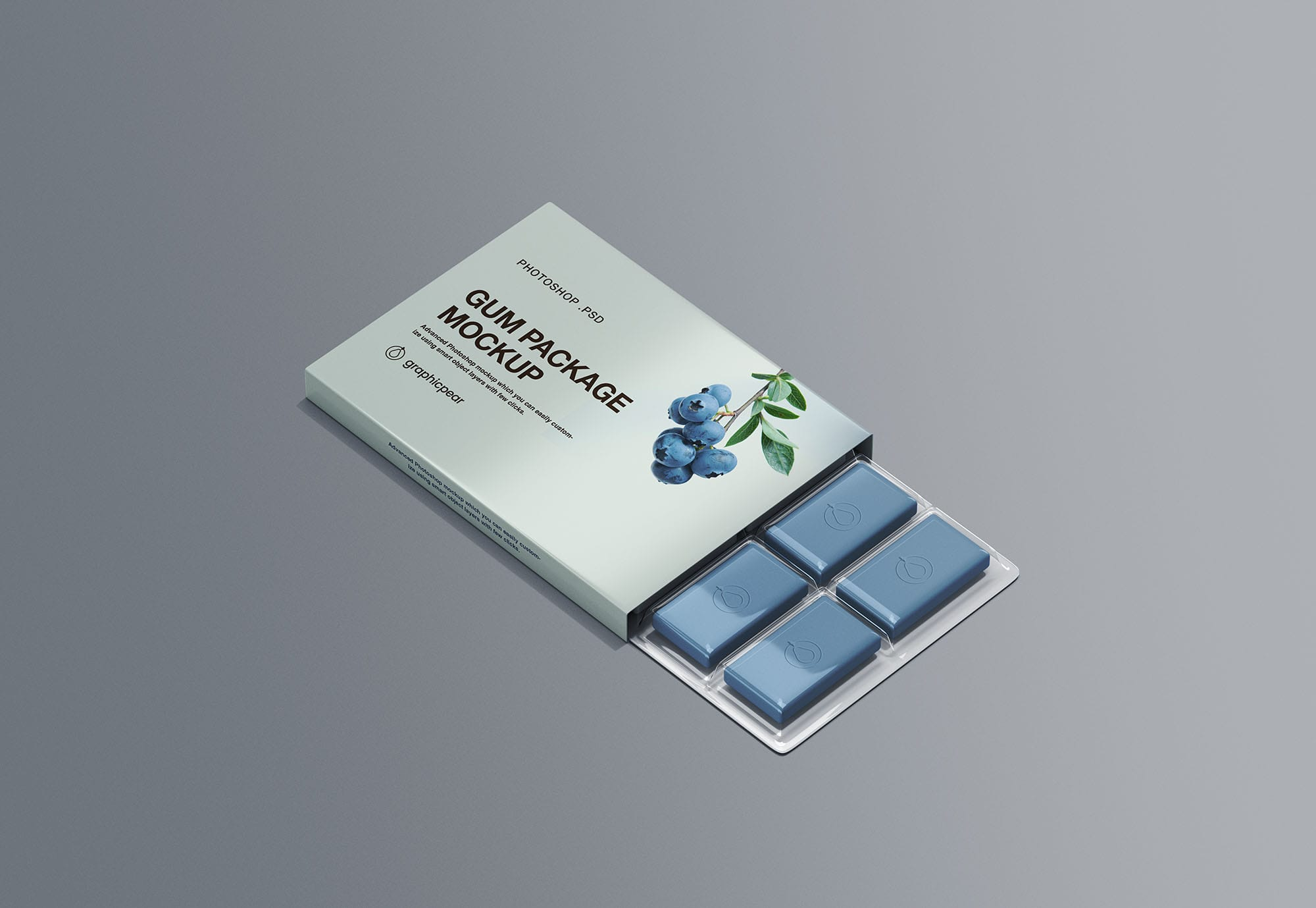 Chewing Gum Packaging Free PSD Mockup