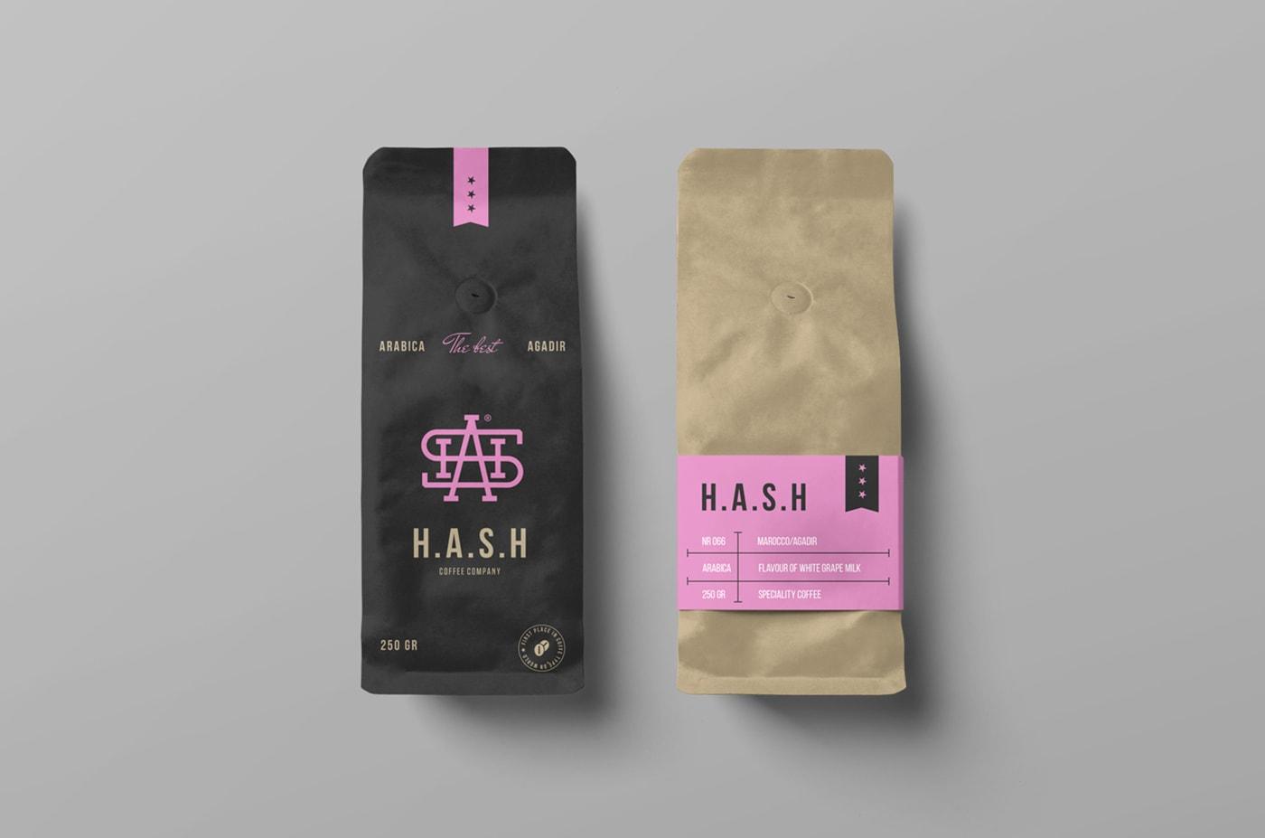 Coffee Bags Free PSD Mockup