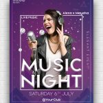 Music Night Party Free PSD Poster Template