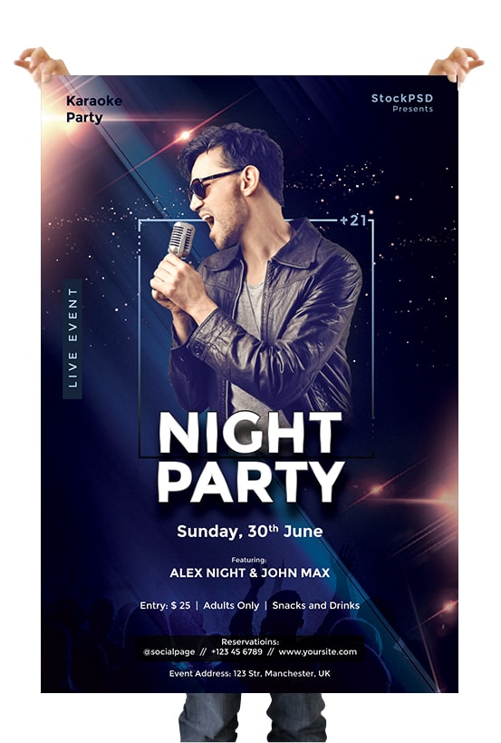 Night Party Event Free PSD Flyer Template