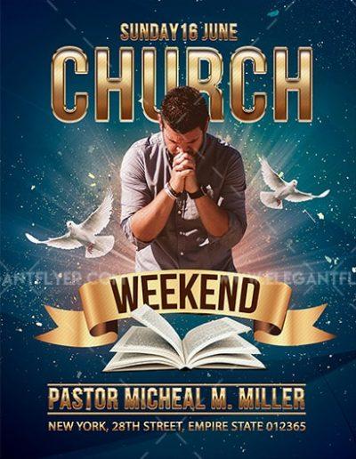 Church Weekend Event Free PSD Flyer Template