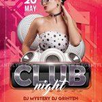 Club Girl Night Free PSD Flyer Template