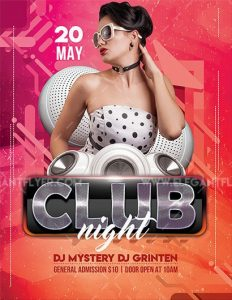 Club Girl Night Free PSD Flyer Template