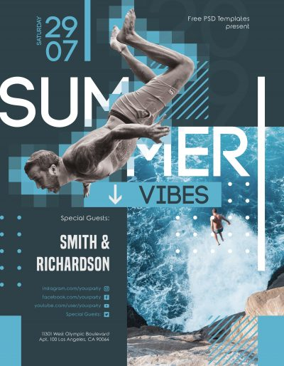 Summer Vibes Free PSD Flyer Template