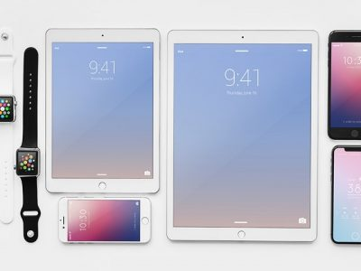 Apple Devices Free PSD Mockup