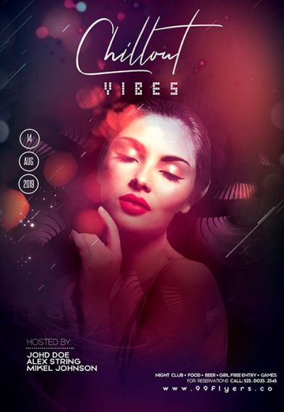 Chill Out Vibe Party Free PSD Flyer Template