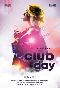 Club Day Party Free PSD Flyer Template