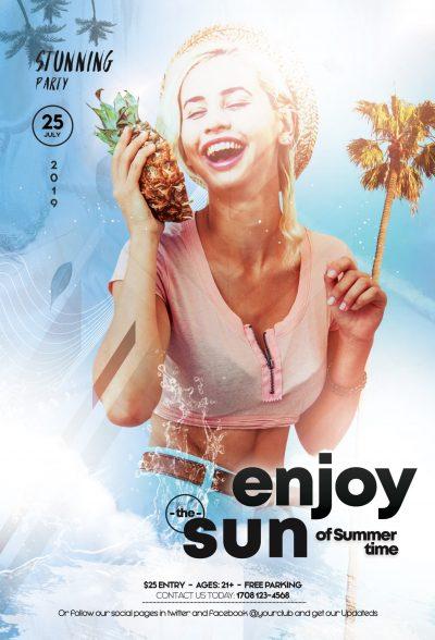 Enjoy The Sun Free PSD Flyer Template