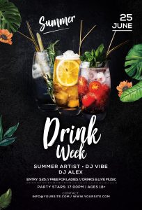 Drink Week Free PSD Flyer Template