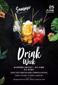 Drink Week Free PSD Flyer Template