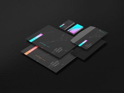 Dark Stationery Branding Free PSD Mockup