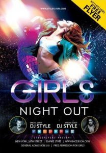 Girls Night Out Party Free PSD Flyer Template