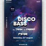 Disco Bass Free PSD Poster Template
