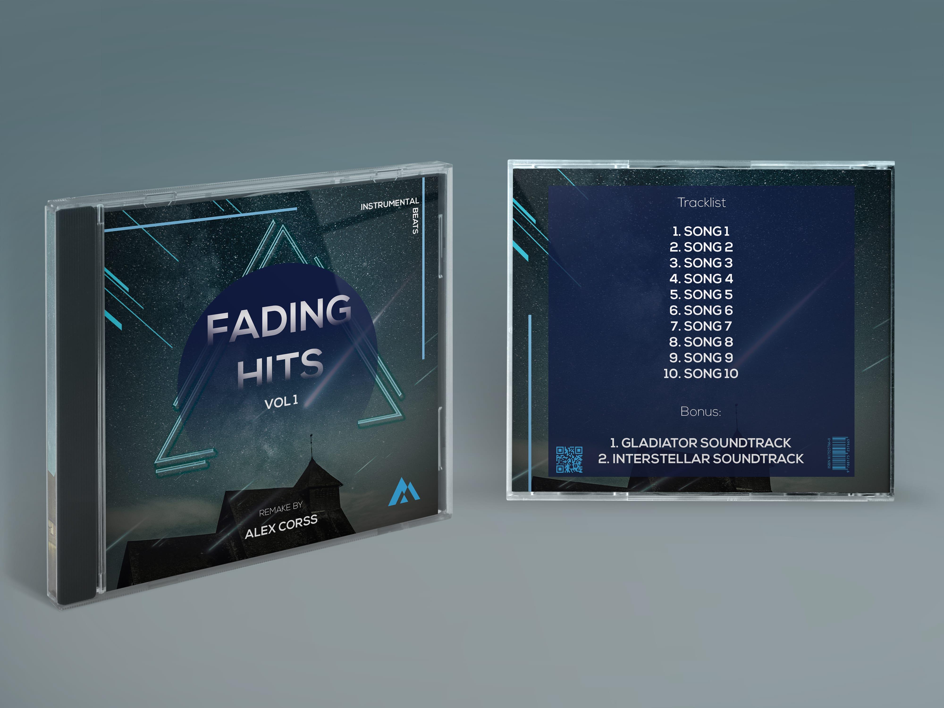 Fading Hits Free PSD Mixtape Cover