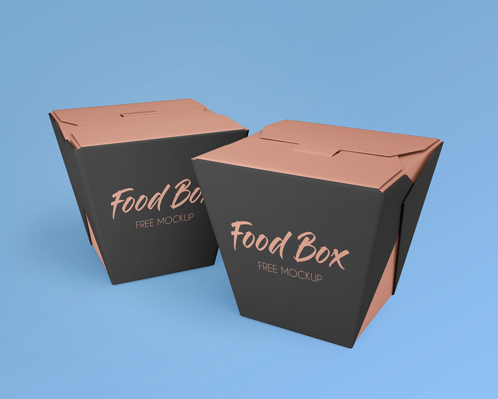 Noodle Food Box Packaging Free PSD Mockup