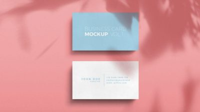 Shadow Overlay Business Card Free PSD Mockup