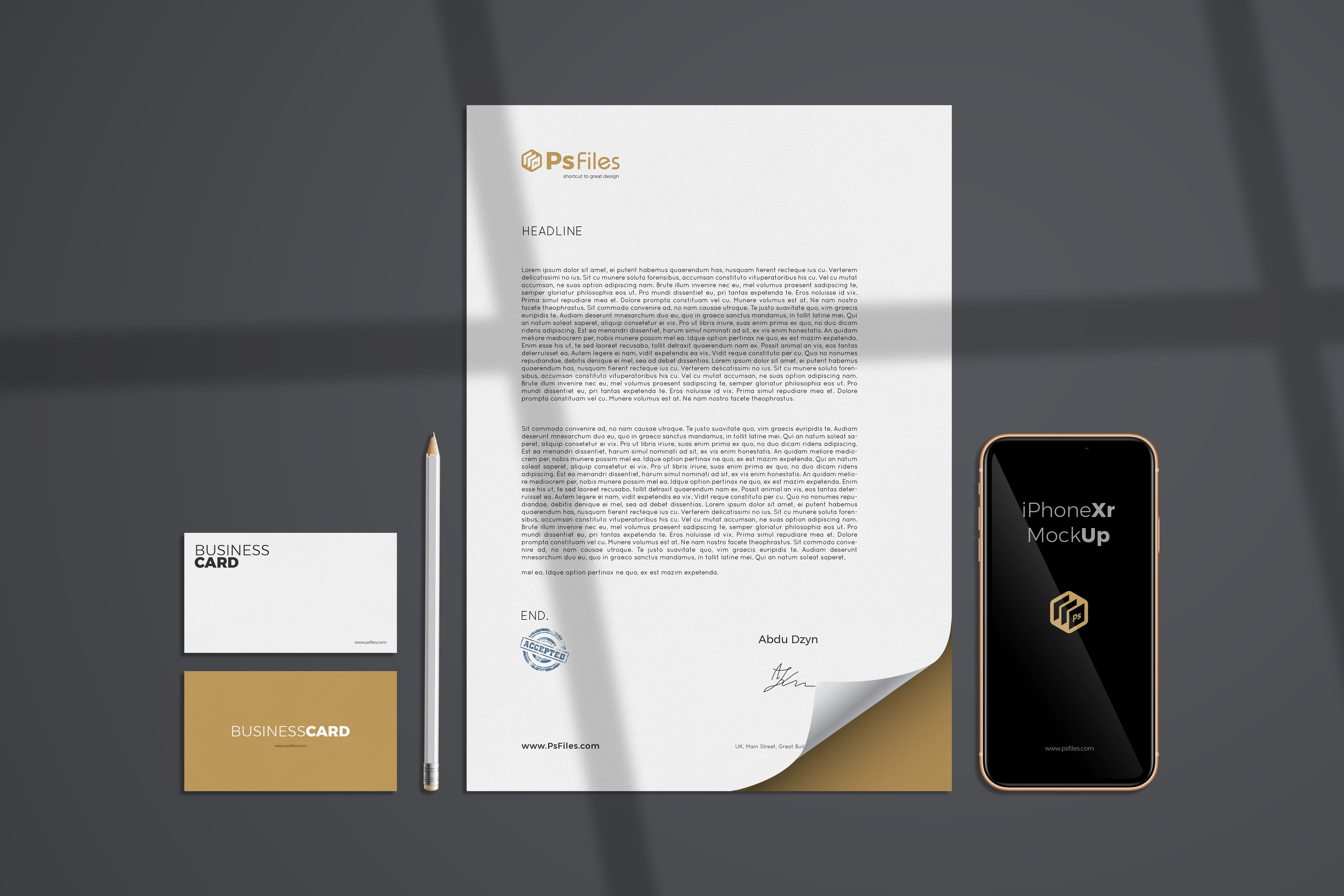 Modern Branding Free PSD Mockup