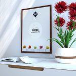 Poster Frame Scene Kit Free PSD Mockup