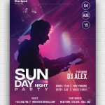 Sunday Night Free PSD Poster Template