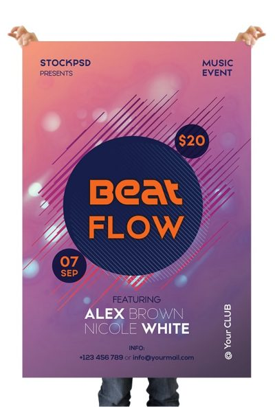 Beat Flow Free PSD Flyer Template