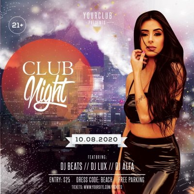 Club Night #2 Free PSD Flyer Template