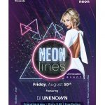 Neon Lines Free PSD Flyer Template