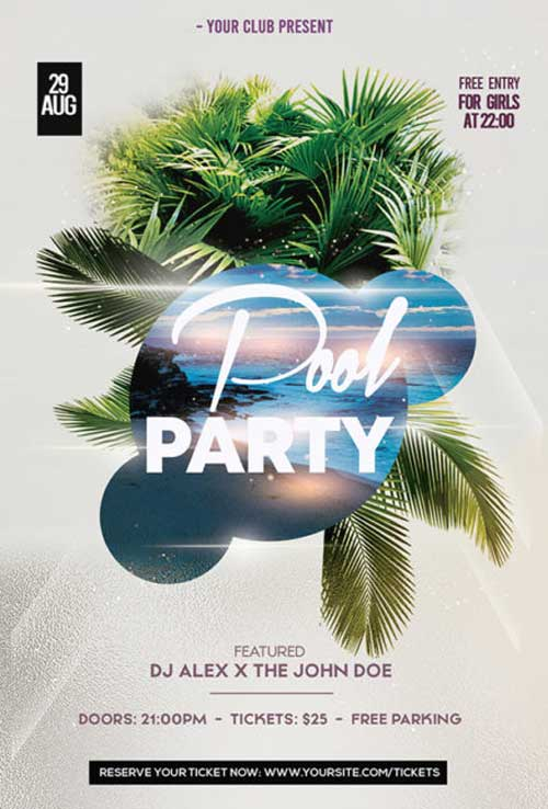 Pool Party #2 Free PSD Flyer Template