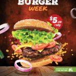 Burger Week Fast Food Free PSD Flyer Template