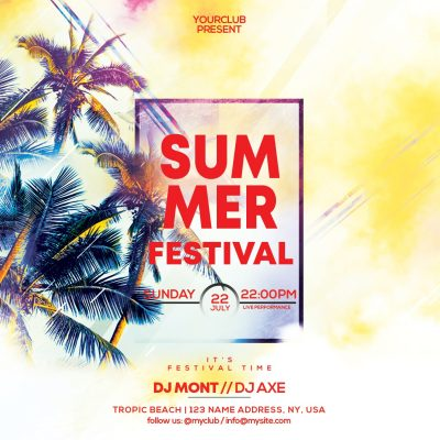 Summer Festival Free PSD Flyer Template