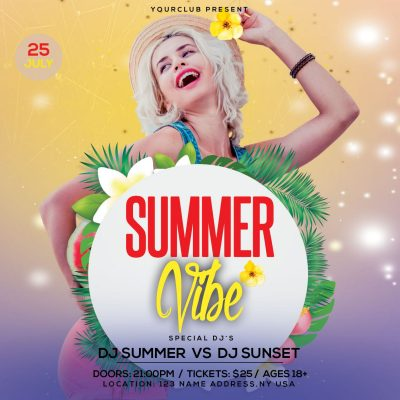 Summer Vibe Instagram Free PSD Template