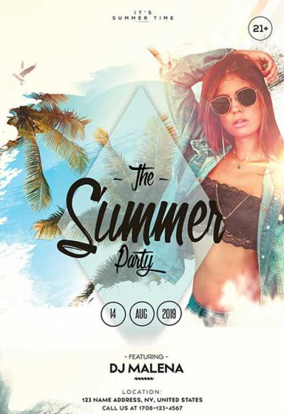 Summer Weekend Vibes Free PSD Flyer Template