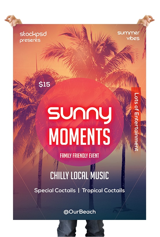 Sunny Moments Free PSD Flyer Template