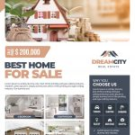 Real Estate #3 Free PSD Flyer Template