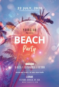 Beach Party #3 Free PSD Flyer Template