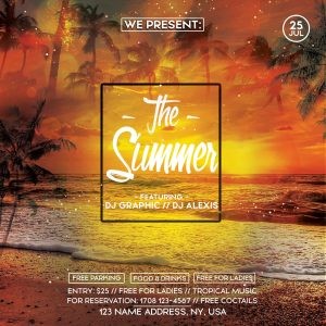 The Summer Event Free PSD Flyer Template