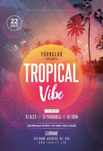Tropical Vibe Free PSD Flyer Template