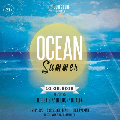 Ocean Summer Free PSD Flyer Template