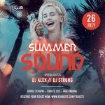 Tropical Sound Instagram Free PSD Flyer Template