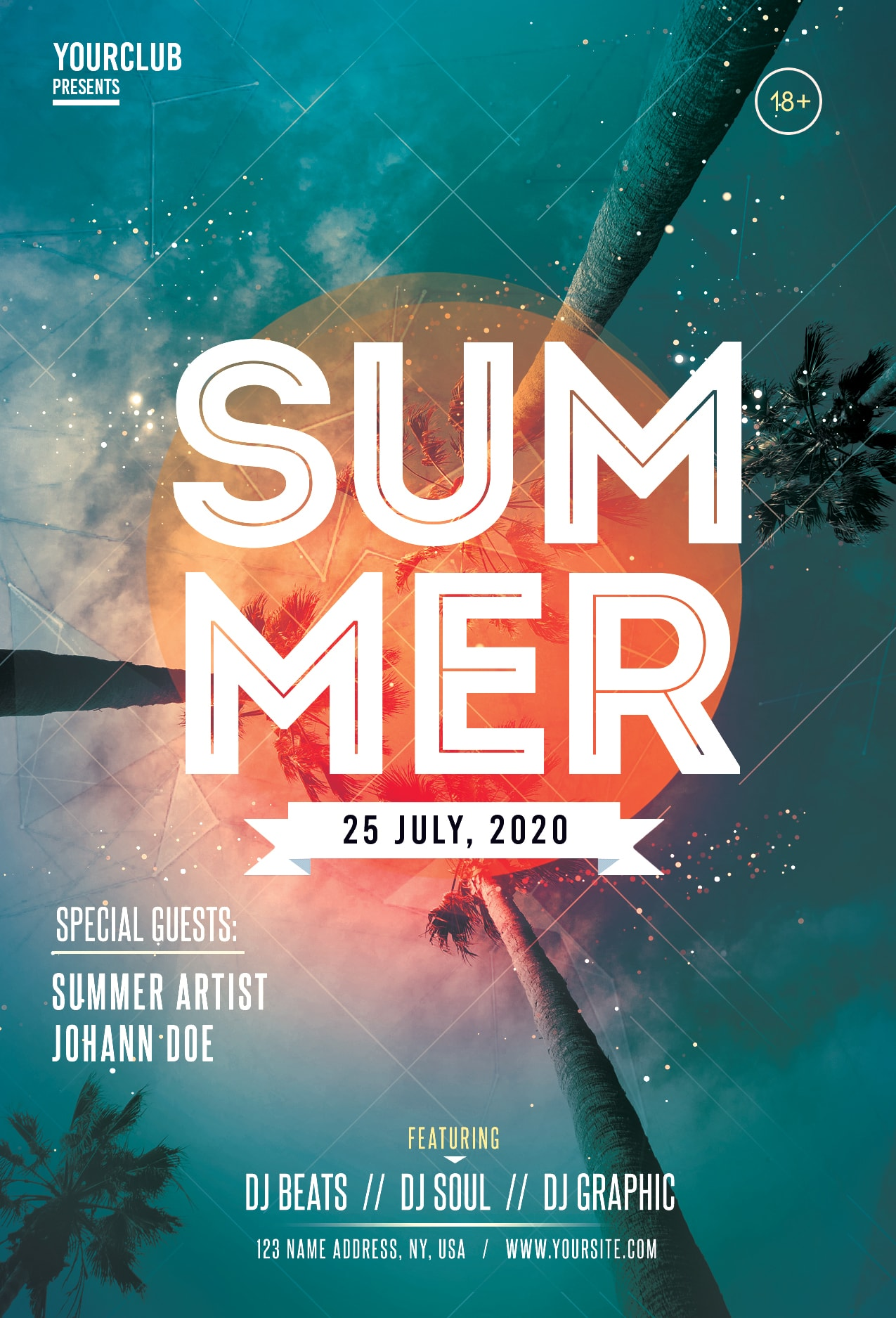 Summer Day Event Free PSD Flyer Template