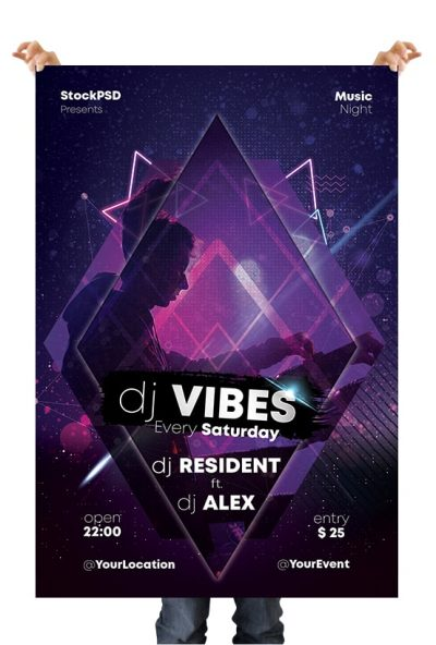Dj Vibes Free PSD Flyer Template