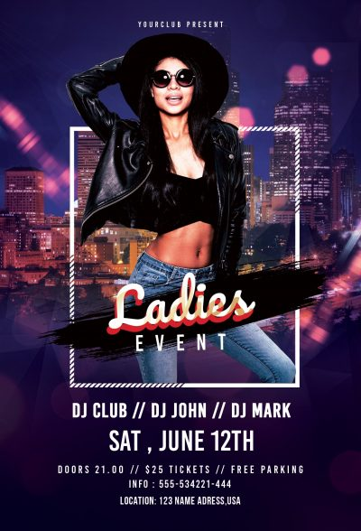 Ladies Event Free PSD Flyer Template