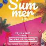 Summer Beach Vibe Free PSD Flyer