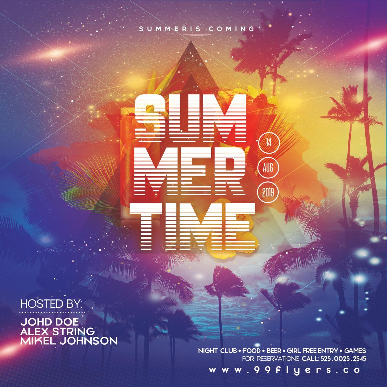 Summer Beach Days Free PSD Flyer Template