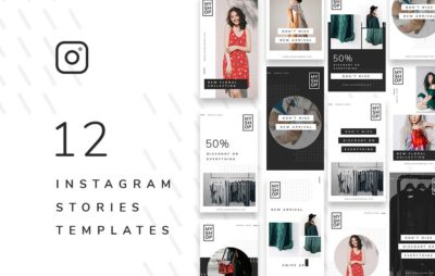 12 Shop Instagram Stories Free PSD Template