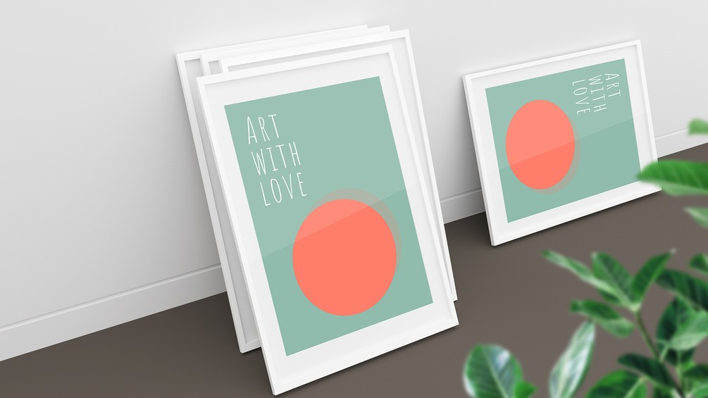 5 Free Framed Poster Mockup Collection