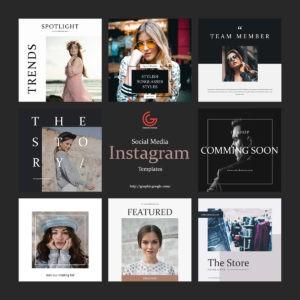 8 Instagram Free Post PSD Templates