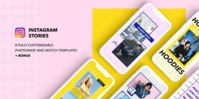 8 Modern & Creative Free Instagram PSD Templates