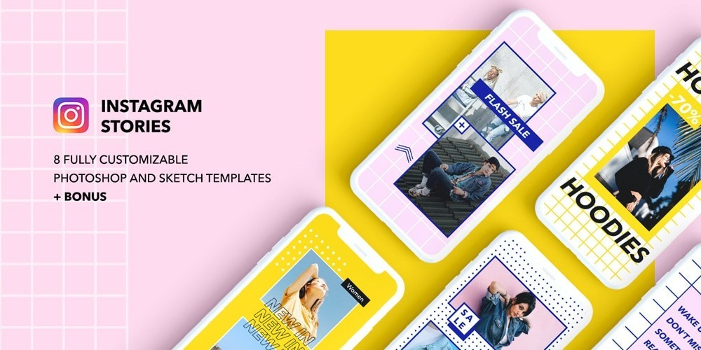 8 Modern & Creative Free Instagram PSD Templates