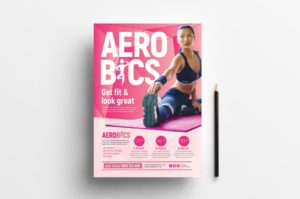 Aerobic & Fitness – Free PSD Flyer Template